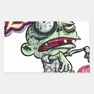 Zombies eat Brains Rectangular Sticker