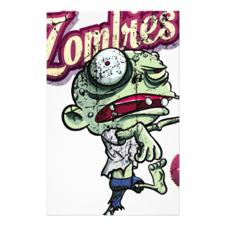 Zombies eat Brains Personalised Stationery