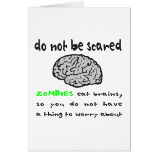 ZOMBIES EAT BRAINS T-SHIRTS AND GIFTS GREETING CARD