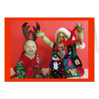 Zombies eat elf - Holiday Card