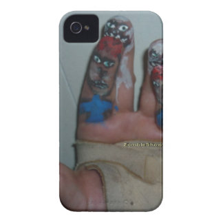 Zombies Eating Brains Funny Zombie Fingers Painted iPhone 4 Case