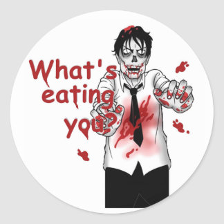 Zombies Eating Classic Round Sticker