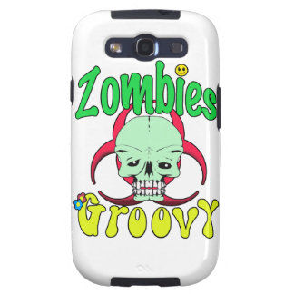 Zombies Groovy 70s 1 Galaxy SIII Cases