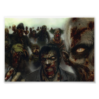 Zombies Halloween Photo Print