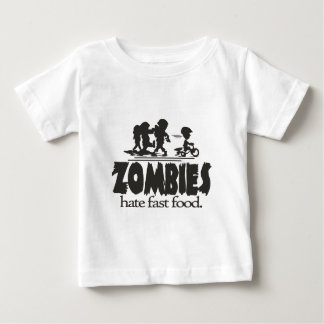 Zombies Hate Fast Food Baby T-Shirt