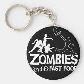Zombies Hate Fast Food: keychain
