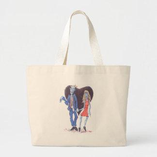 Zombies in love jumbo tote bag