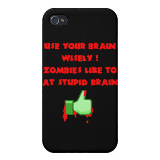 Zombies like stupid brains covers for iPhone 4