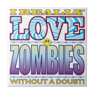 Zombies Love Face Small Square Tile