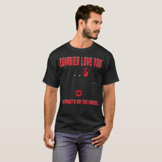 zombies love you funny cute shirt