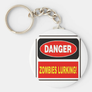 Zombies Lurking Basic Round Button Key Ring