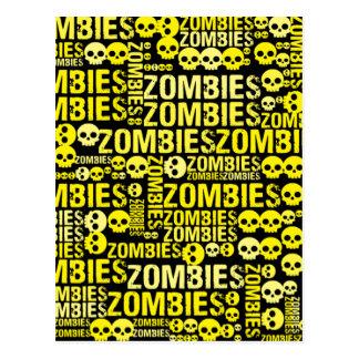 Zombies Mosaic Postcard