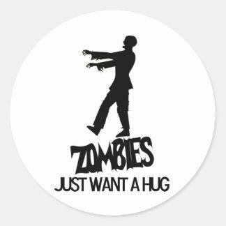 Zombies Needs A Hug Too Stickers