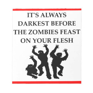 ZOMBIES NOTEPAD