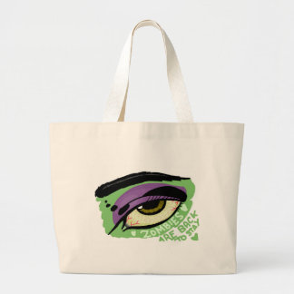Zombies plows back to stay tote bag