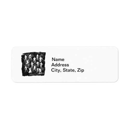ZOMBIES RETURN ADDRESS LABEL