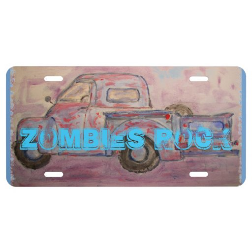 Zombies Rock License Plate
