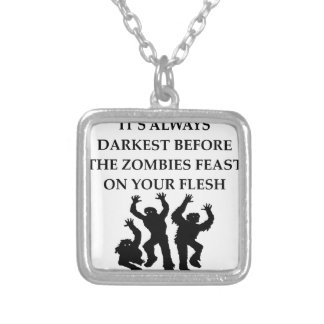 ZOMBIES SILVER PLATED NECKLACE
