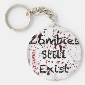 Zombies still existing basic round button key ring