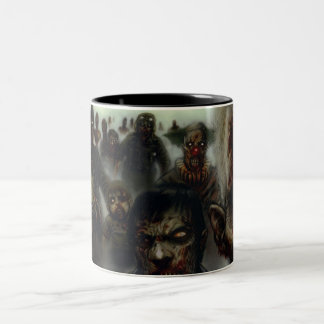 Zombies Two-Tone Coffee Mug