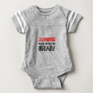 zombies want me for my brain baby bodysuit