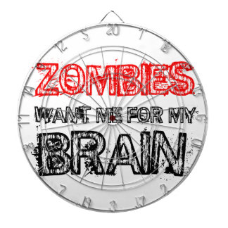 zombies want me for my brain dartboard