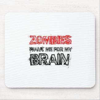 zombies want me for my brain mouse pad
