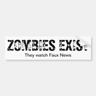Zombies Watch Faux News Bumper Sticker