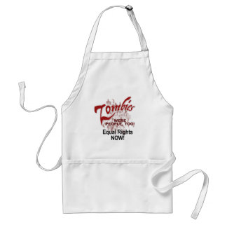 zombies were people too standard apron