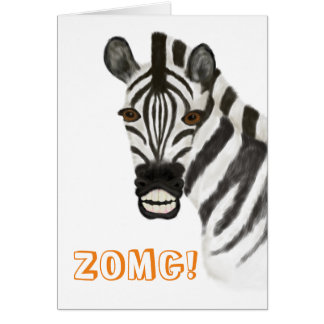 """ZOMG!"" Greetings Card"