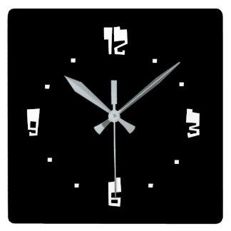 Zomz font Black and white> Plain Wall Clocks