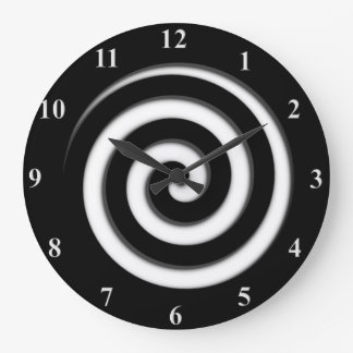 Zone Out Black Spiral Hypno Wall Clock