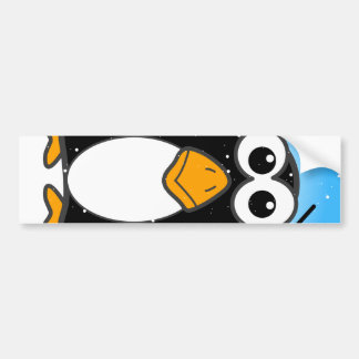Zoned Out Penguin Bumper Sticker