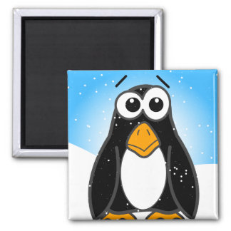 Zoned Out Penguin Square Magnet