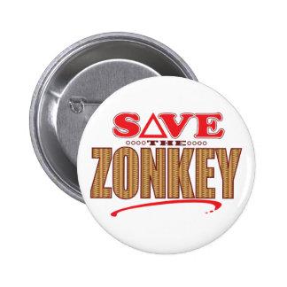 Zonkey Save 6 Cm Round Badge