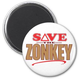 Zonkey Save 6 Cm Round Magnet