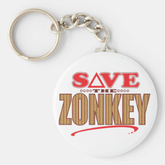 Zonkey Save Basic Round Button Key Ring