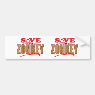 Zonkey Save Bumper Sticker