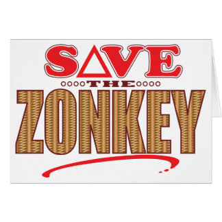 Zonkey Save Greeting Card