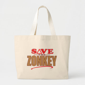 Zonkey Save Jumbo Tote Bag