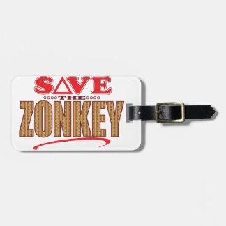 Zonkey Save Luggage Tags