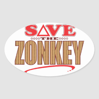Zonkey Save Oval Sticker