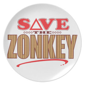 Zonkey Save Party Plate