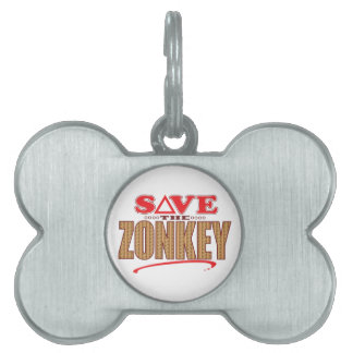 Zonkey Save Pet ID Tags
