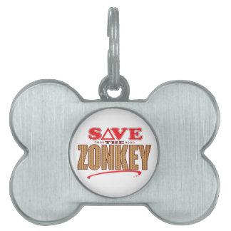 Zonkey Save Pet ID Tags