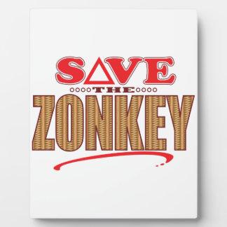 Zonkey Save Plaque
