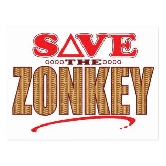 Zonkey Save Postcard