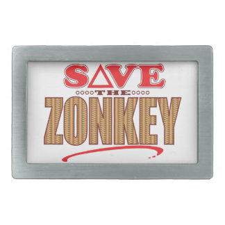 Zonkey Save Rectangular Belt Buckles