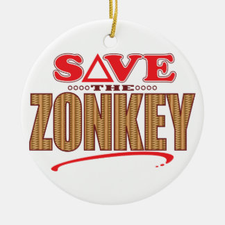 Zonkey Save Round Ceramic Decoration