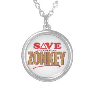 Zonkey Save Round Pendant Necklace